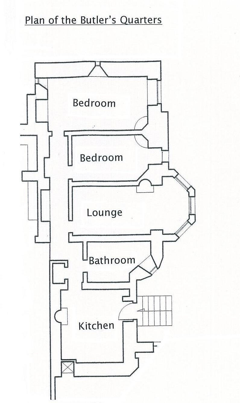 Plan of the Butlers Quarters, self catering accommodation in Argyll, Scotland